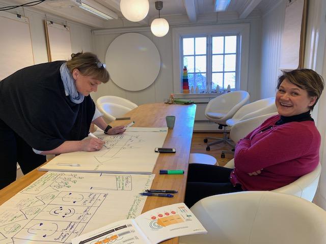 Deltakere på Playmaker-utdanning i Trondheim, Otium Sanserom, 2020.